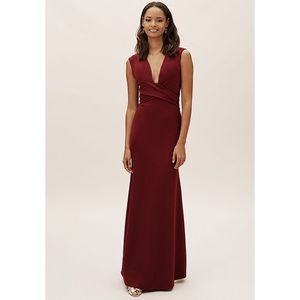BHLDN Anthropologie NWT Fira Dress in Bordeaux